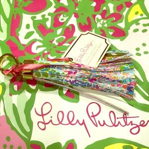 "Lilly Pulitzer Tassel Keychain ""Catch the Wave"""